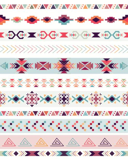Tribal seamless pattern Tribal decorative seamless pattern with traditional elements, vector design romania stock illustrations