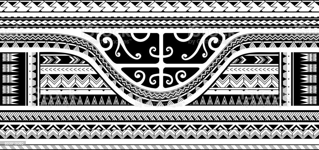 Diseño tribal de la manga - ilustración de arte vectorial