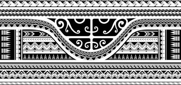 ilustraciones, imágenes clip art, dibujos animados e iconos de stock de diseño tribal de la manga - tatuajes tribales