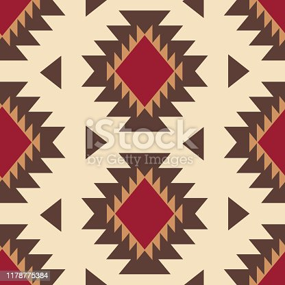 istock Tribal southwestern native american navajo seamless pattern 1178775384