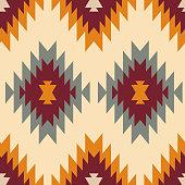 istock Tribal southwestern native american navajo seamless pattern 1181207744