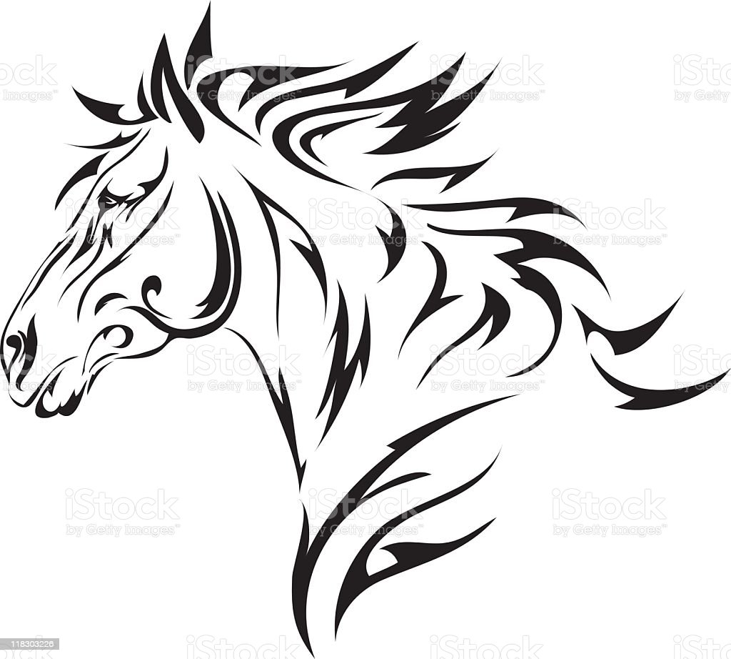 tribal style horse stock vector art more images of. Black Bedroom Furniture Sets. Home Design Ideas