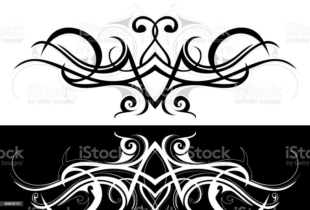 Tribal swirls royalty-free stock vector art