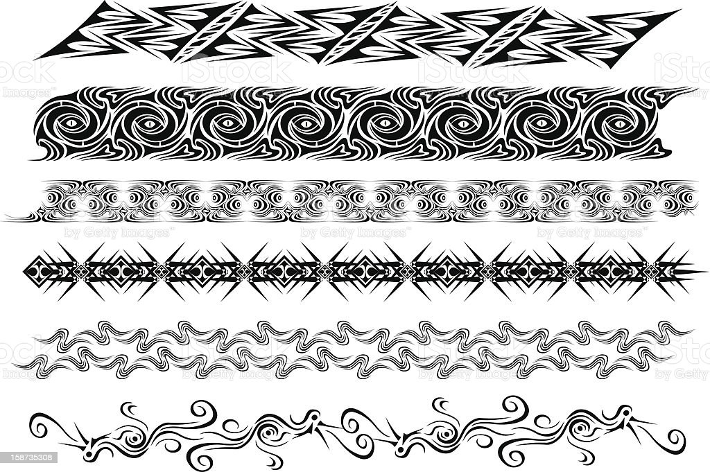 tribal tatoo royalty-free stock vector art
