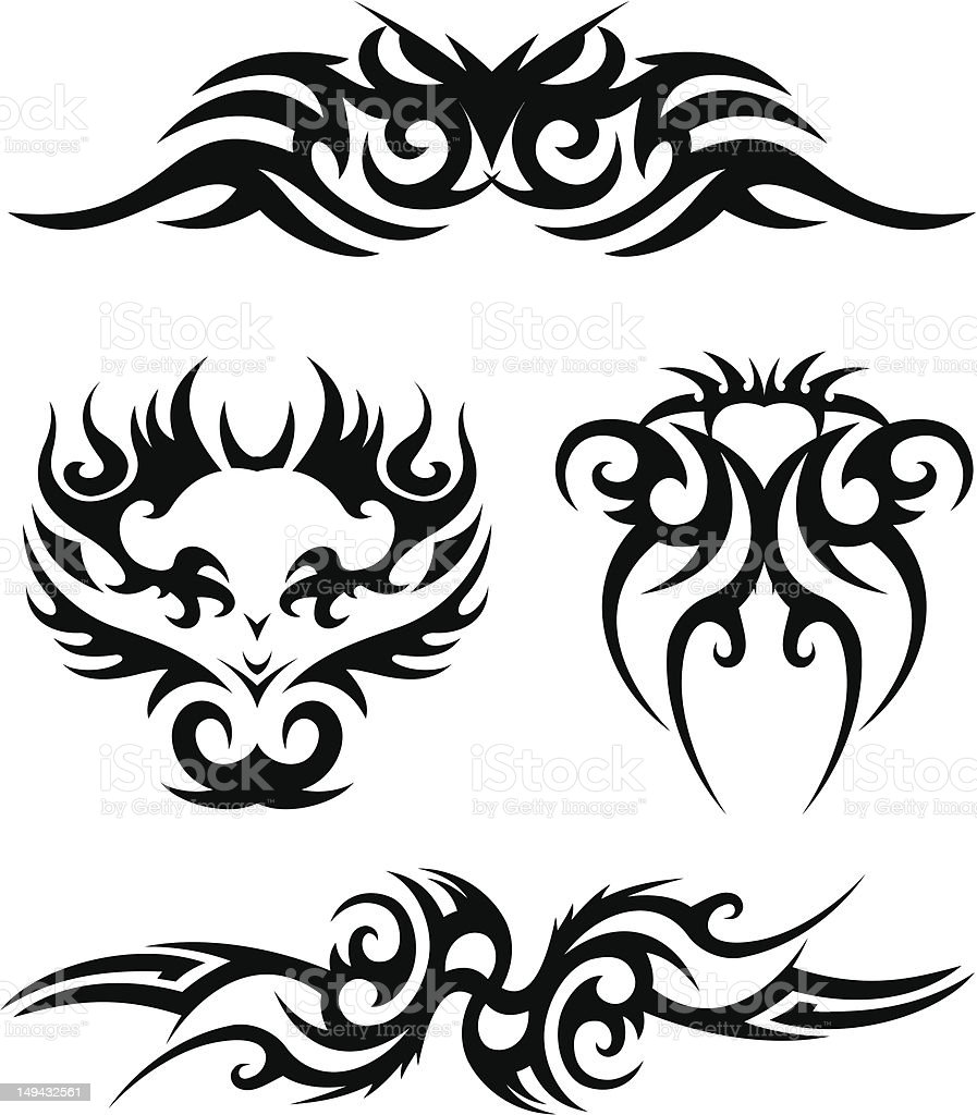 Tribal tatto design royalty-free tribal tatto design stock vector art & more images of arrow symbol