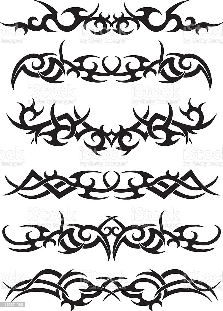 Tribal Tatto Designs royalty-free stock vector art