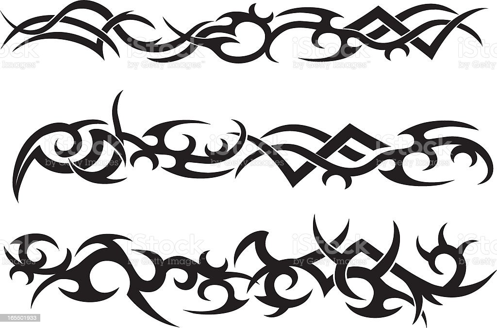 Tribal Tattoo Design royalty-free tribal tattoo design stock vector art & more images of abstract
