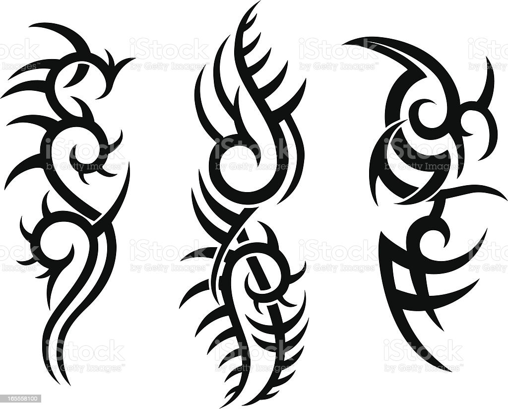 Tribal tattoo design stock vector art more images of for Images of tribal tattoos