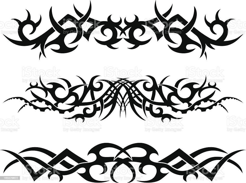 Tribal Tattoo Designs royalty-free tribal tattoo designs stock vector art & more images of abstract