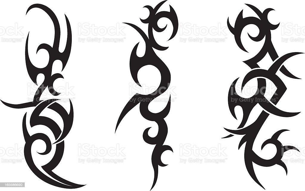 Tribal Tattoo Designs vector art illustration
