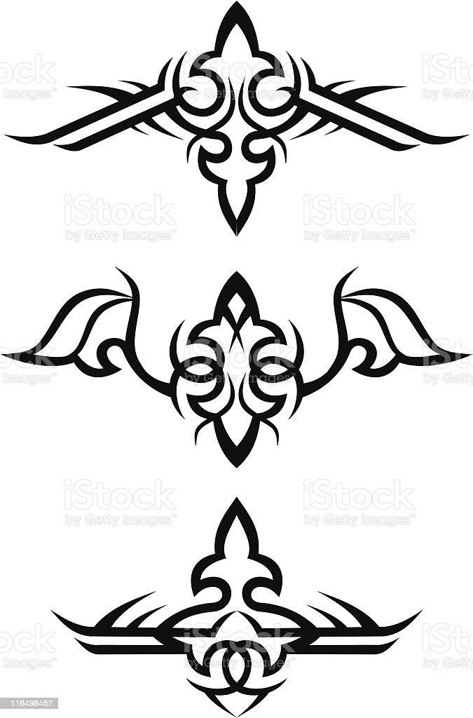 tribal tattoo designs / vector illustration royalty-free stock vector art