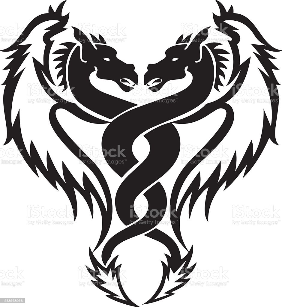 Tribal tattoo horse Vector. Men's tattoo. Women's tattoo. vector art illustration