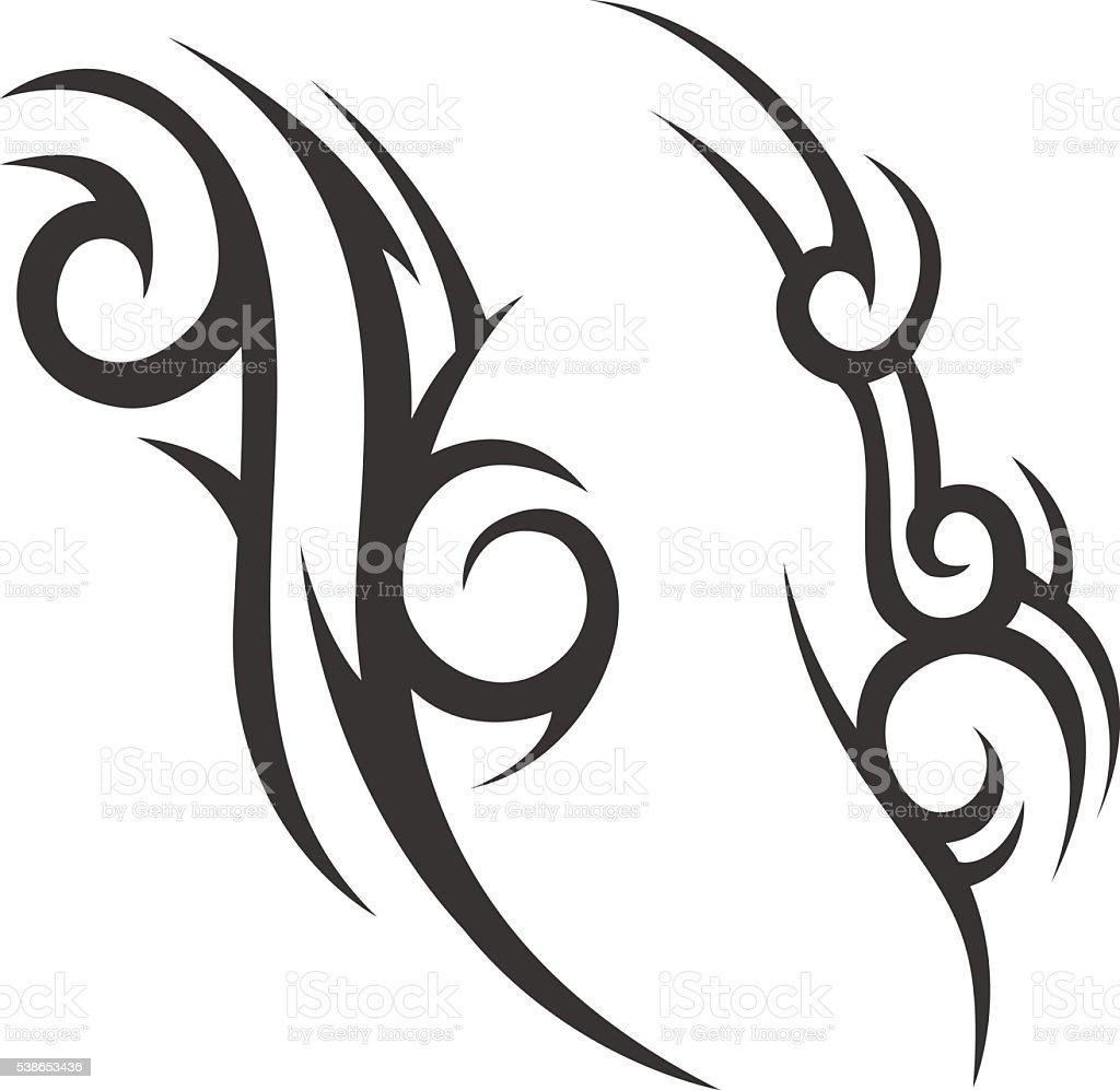 Tribal Tatuaz Meskie Tatuaz Damskie Tatuaz Stockowe Grafiki
