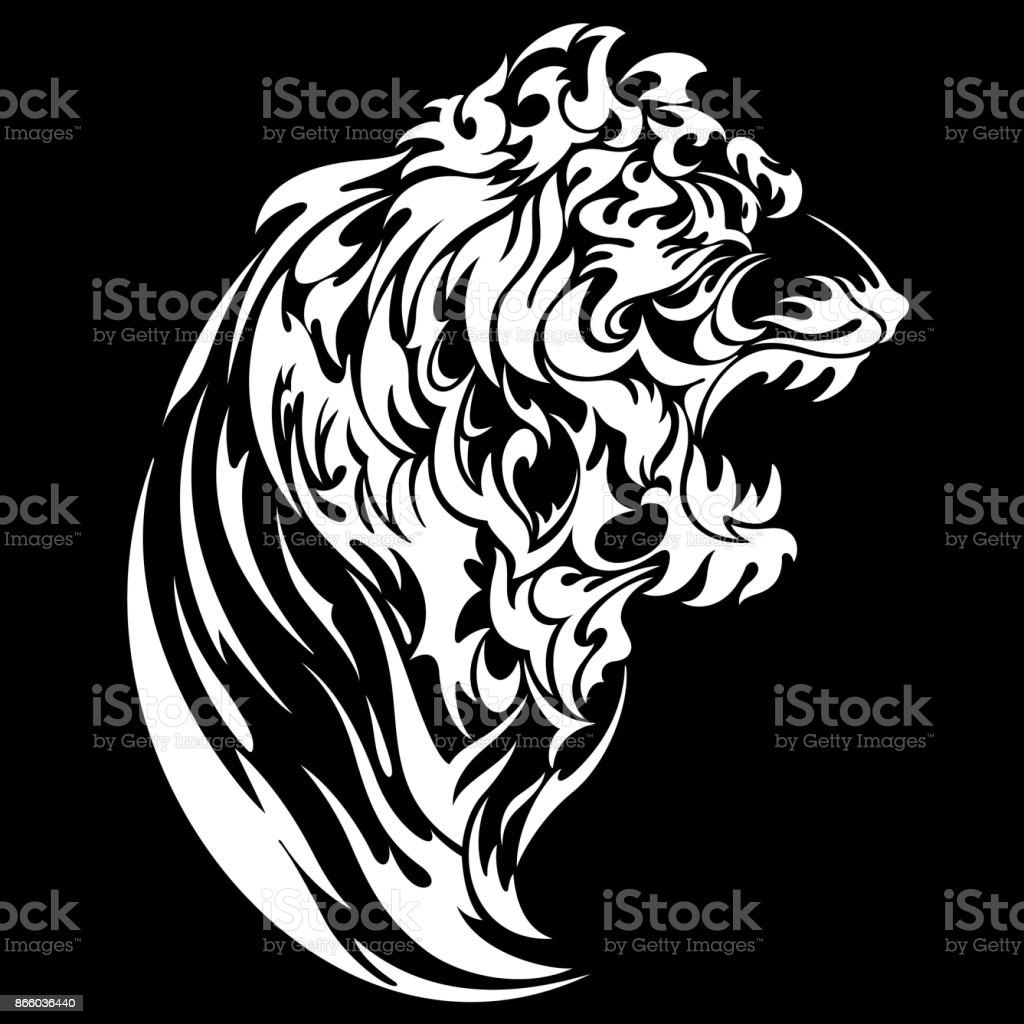 Tribal Tattoo Of The Tiger Stock Vector Art More Images Of