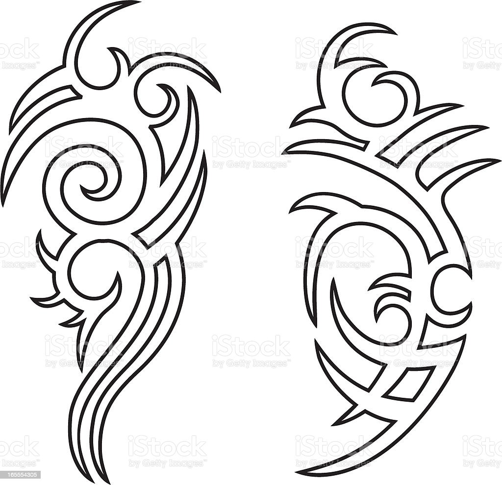 Tribal Tattoo Outlines Stock Vector Art & More Images Of