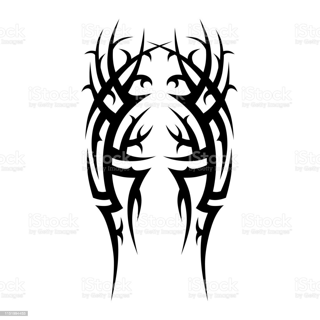 Tribal Tattoo Pattern Designs Vector Sketch Simple Abstract