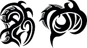 Tribal Tattoo Design. Zip includes CDR, AI and high-res JPEG files.