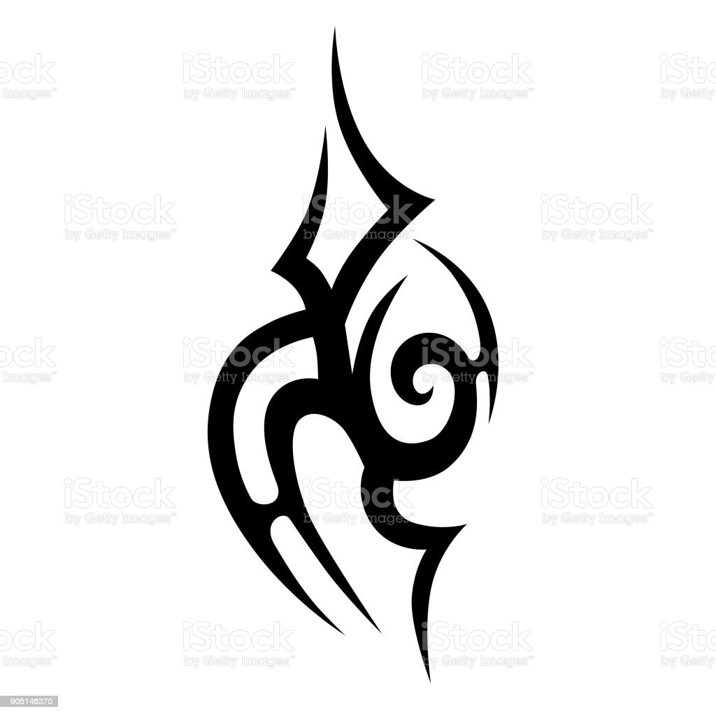 tribal tattoo vector design sketch sleeve art pattern arm simple