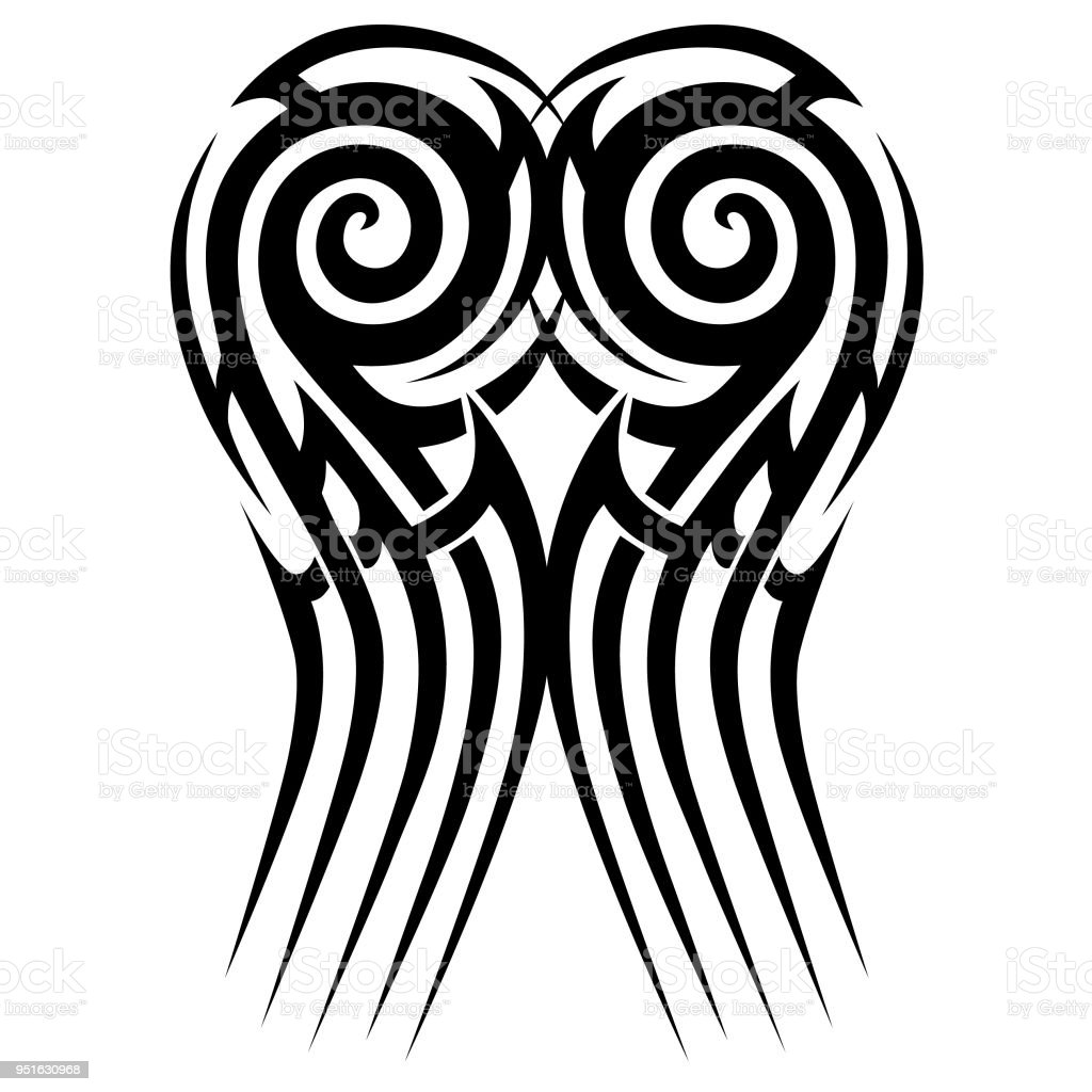 Tribal Tattoo Vector Designs Sketch Simple Abstract Black Ornament