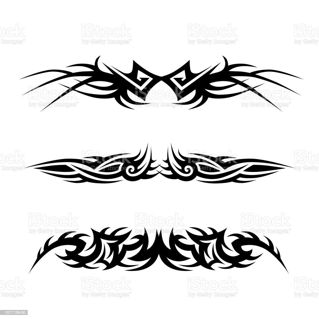 Tattoo Designs Vector Free Download: Tribal Tattoo Vector Designs Stock Illustration