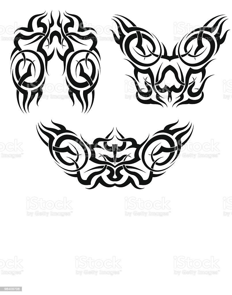 Tatuaggio tribale tatuaggio tribale - immagini vettoriali stock e altre immagini di arte tribale royalty-free