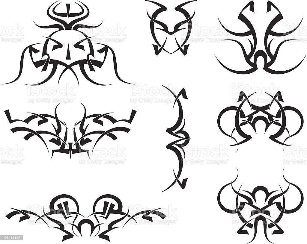 Tribal tattoo royalty-free tribal tattoo stock vector art & more images of black color