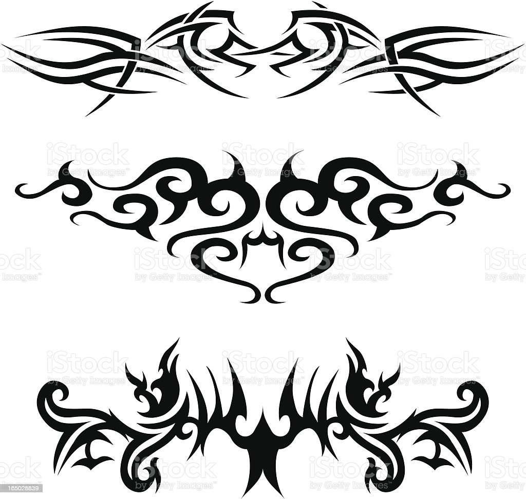 tribal tattoos 3 royalty-free tribal tattoos 3 stock vector art & more images of art and craft
