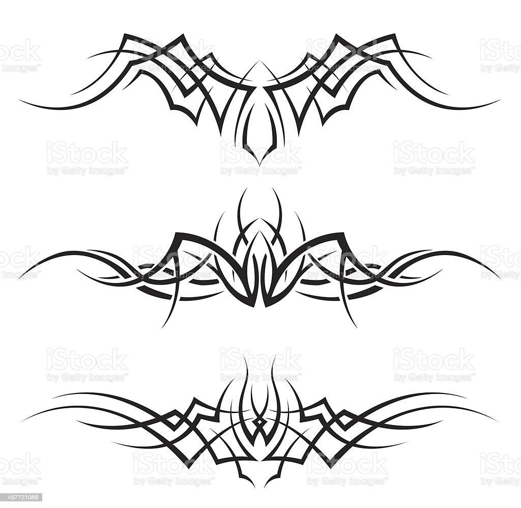 Tribal Tattoos vector art illustration