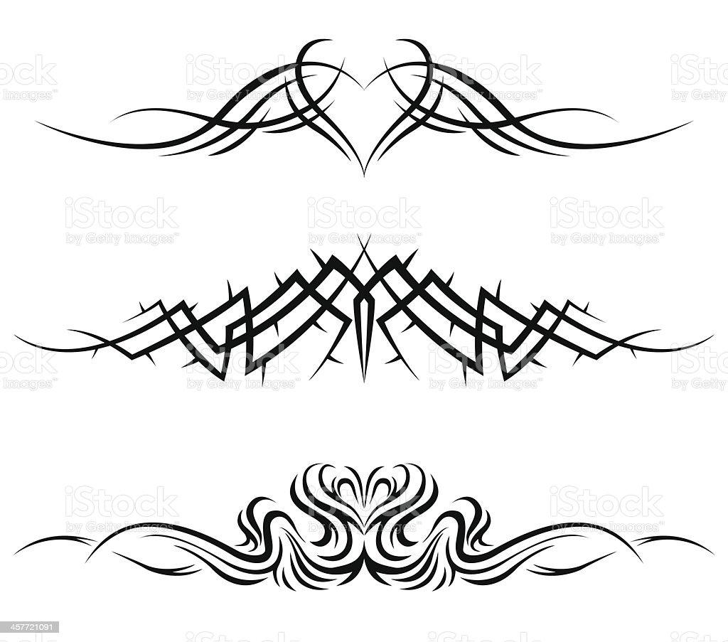 Tatuajes tribales - ilustración de arte vectorial
