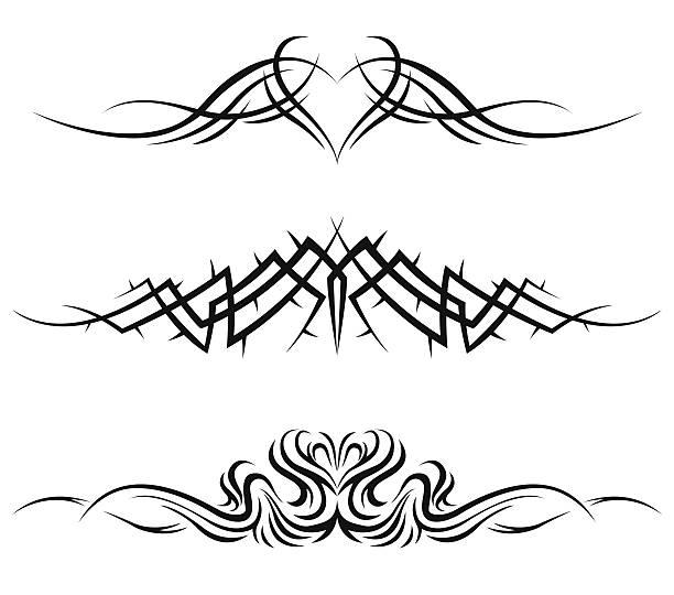 ilustraciones, imágenes clip art, dibujos animados e iconos de stock de tatuajes tribales - tatuajes tribales