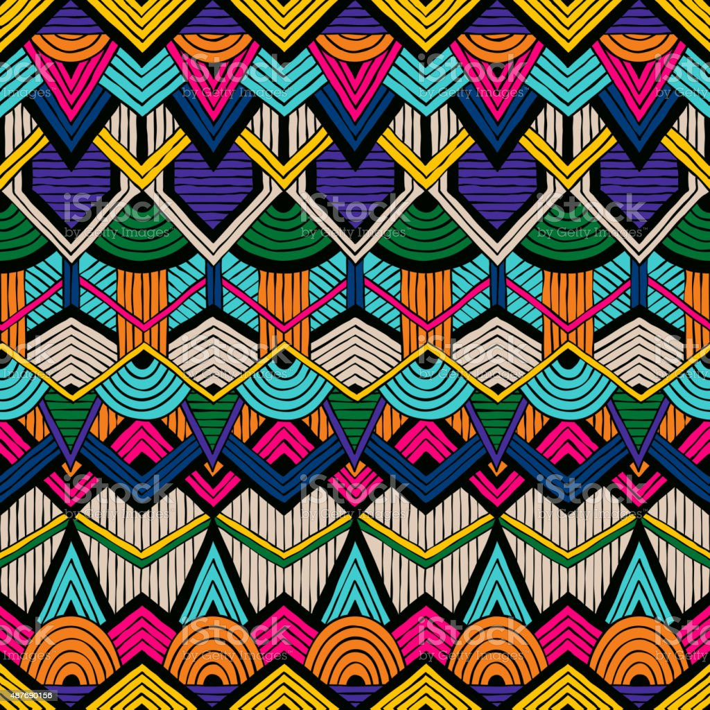Tribal vector pattern vector art illustration