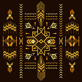 Tribal Vintage Aztec Background - hand drawn