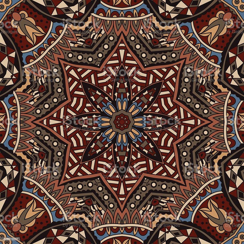 Tribal vintage ethnic indian ornamental design vector art illustration