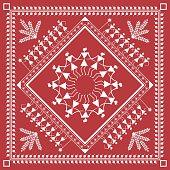 ... Tribal Warli Painting music and dance frame ...