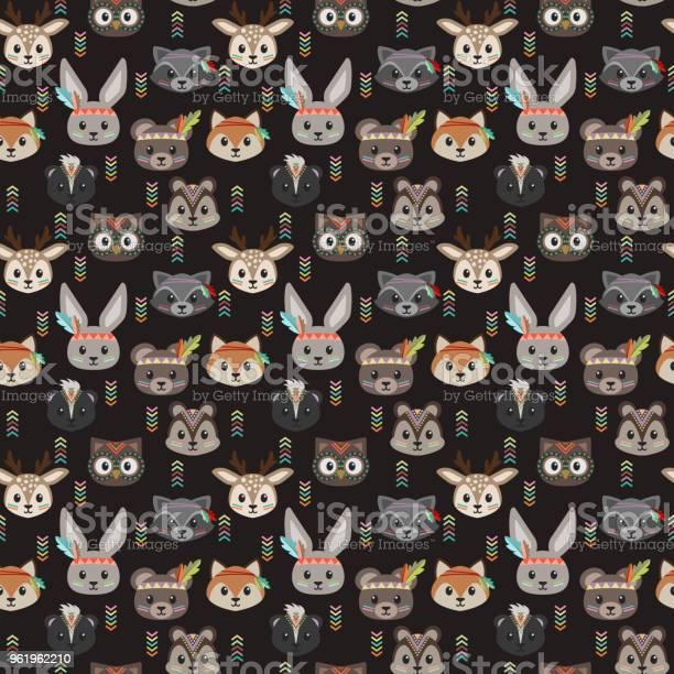 Tribal woodland animals seamless pattern vector id961962210?b=1&k=6&m=961962210&s=612x612&h=zxblzyuw68wl4x xwihzde7stndtfspm6akyno7bjta=