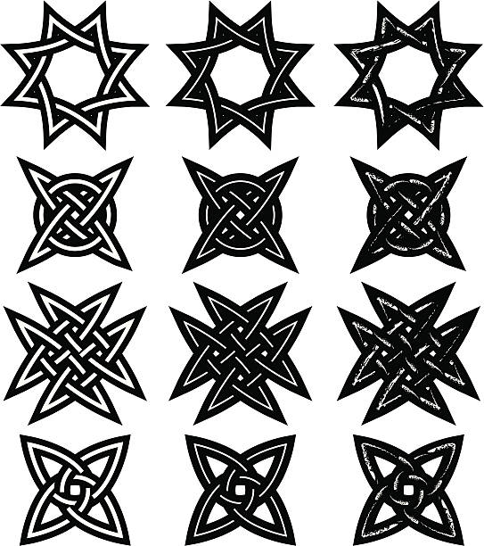 Tribtal Tattoos, Celtic Knots vector art illustration