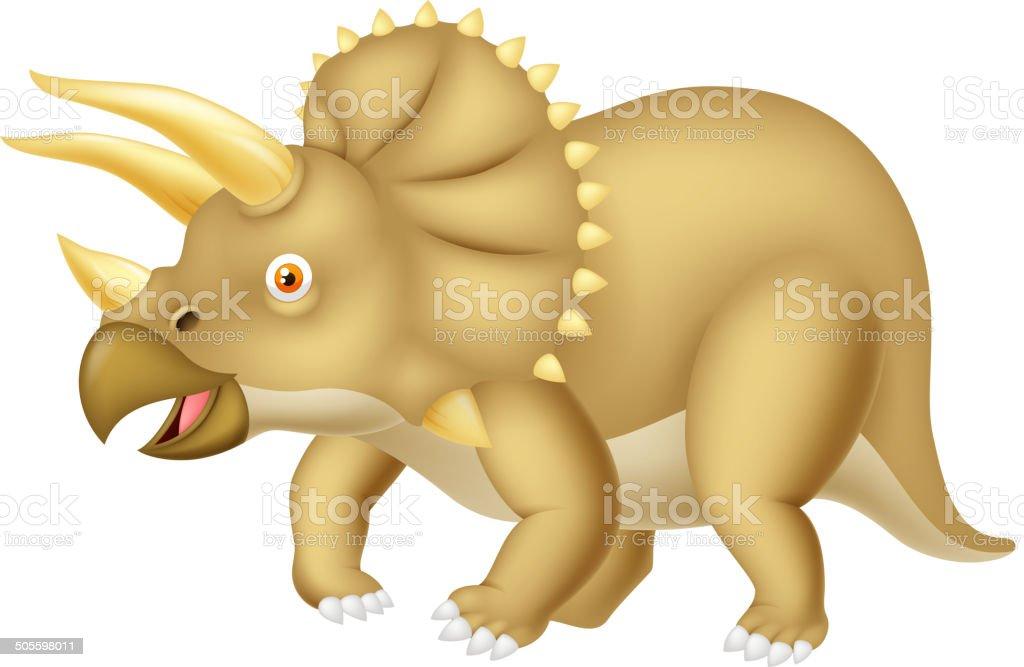 Triceratops cartoon royalty-free stock vector art