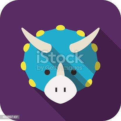 Triceratops Dinosaur animal ui flat design