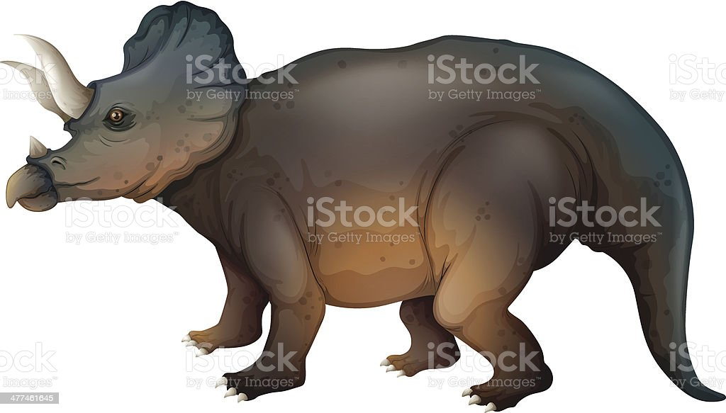 Triceratops royalty-free stock vector art