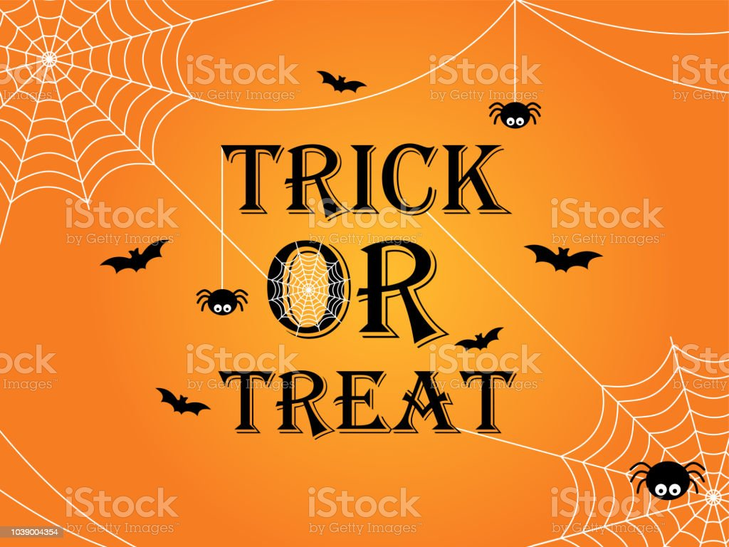 Trick or treat Halloween banner template background royalty-free trick or treat halloween banner template background stock illustration - download image now
