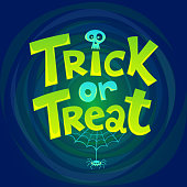 Trick or Treat hand drawn lettering background
