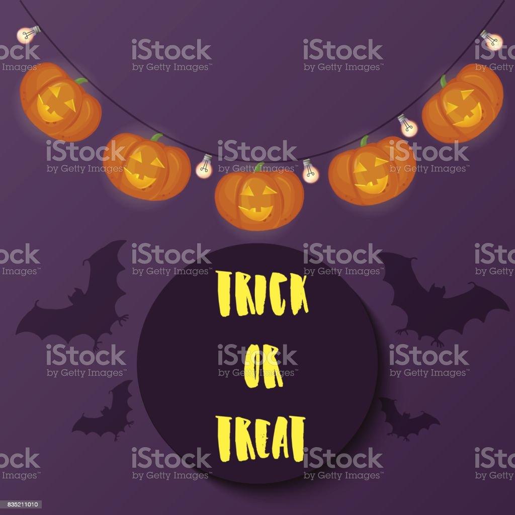 Halloween Verlichting.Truc Of Behandelen Van Tekst Vrolijke Halloween Vleermuizen