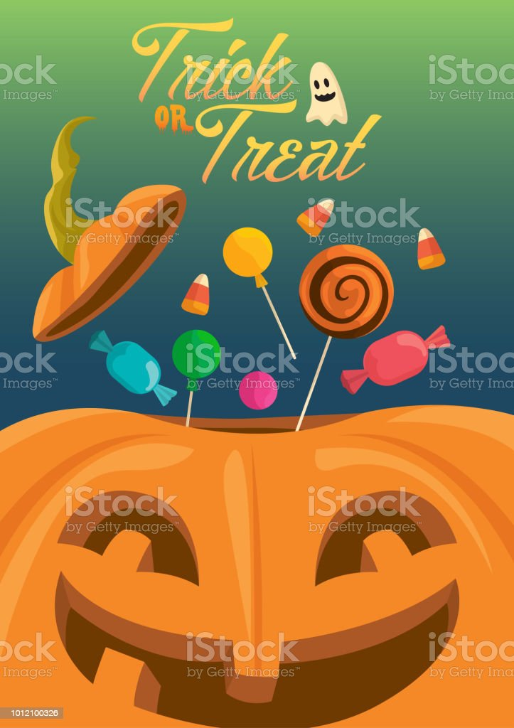 Trick or Treat vector art illustration