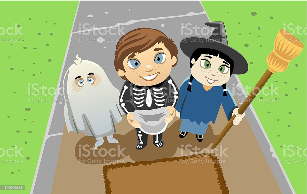 Trick or Treat royalty-free trick or treat stock vector art & more images of broom