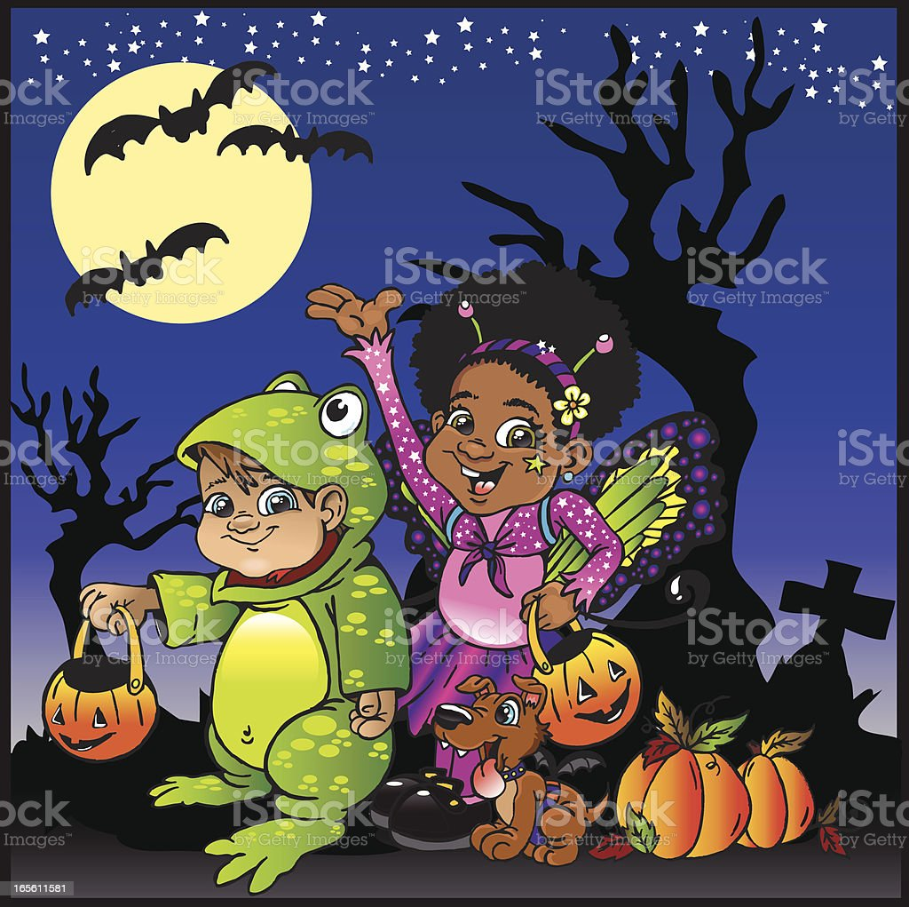 Trick Or Treat! royalty-free trick or treat stock vector art & more images of art and craft