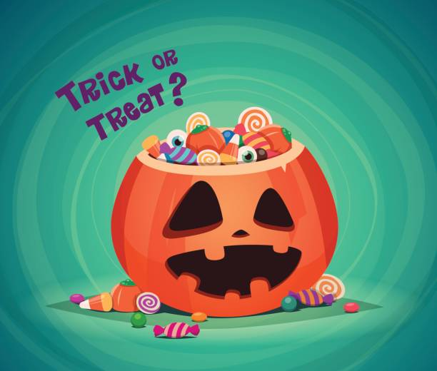 trick or treat. - halloween candy stock illustrations