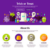 Trick or Treat Web Design Template