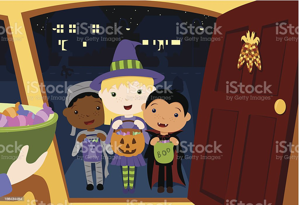 Children In Celebration Of Halloween On The Doorstep Clip Art Vector Images u0026 Illustrations & Children In Celebration Of Halloween On The Doorstep Clip Art ... pezcame.com