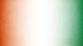 Tiranga - A horizontal vector illustration of three colored vertical bands merging into each other . A scratched textured wall effect. The leftmost band is saffron or orange colored, the middle one is white and the right most is green colored. Denotes the Indian National flag.