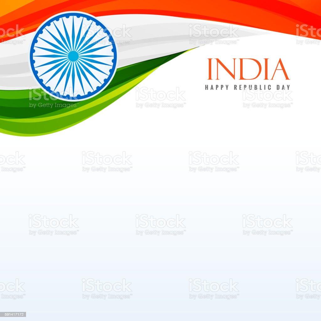 tricolor indian flag background vector art illustration